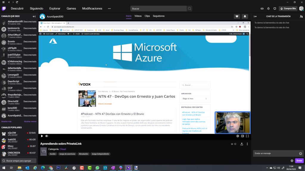 AzureSpain2010 en Twitch