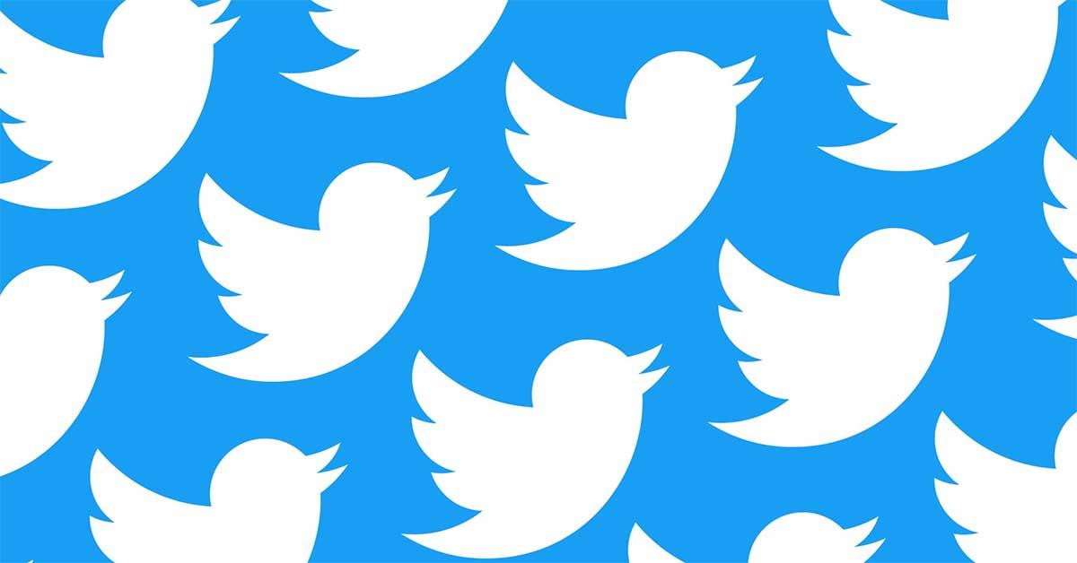 Bandada de logotipos de twiter